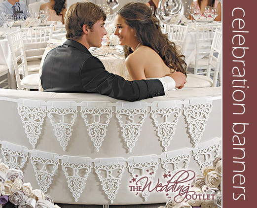 Wednesday Wedding Accessory Just Married Celebration Banners