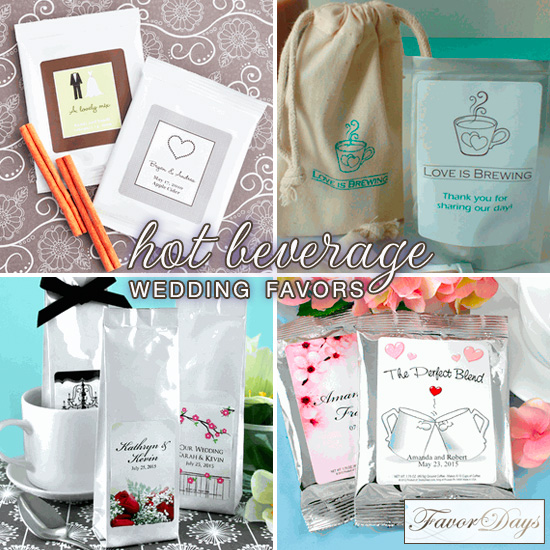 Hot Beverage Wedding Favors . . . warm up with cocoa, cider + more