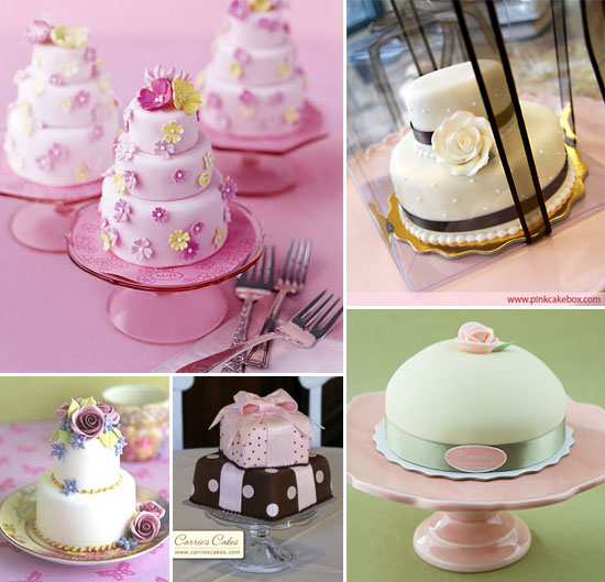 A New Old Trend In Wedding Cakes The Mini Cake