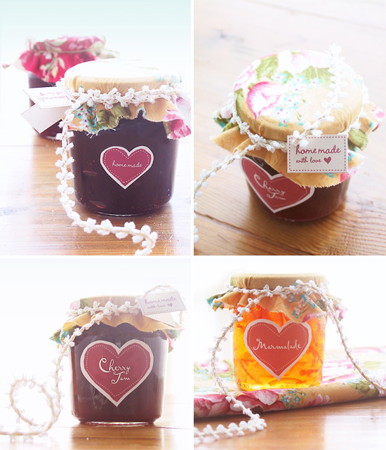 Diy Drinks Food Printables: Free Labels For DIY Home Made Jam Packaging