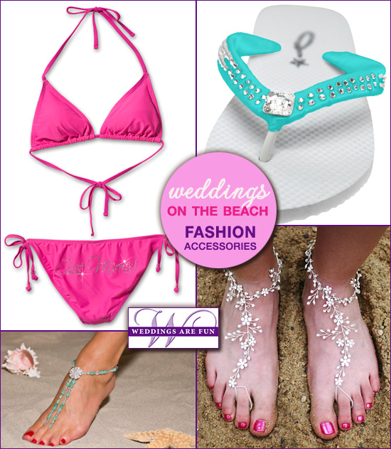 beach wedding accessories and fashions