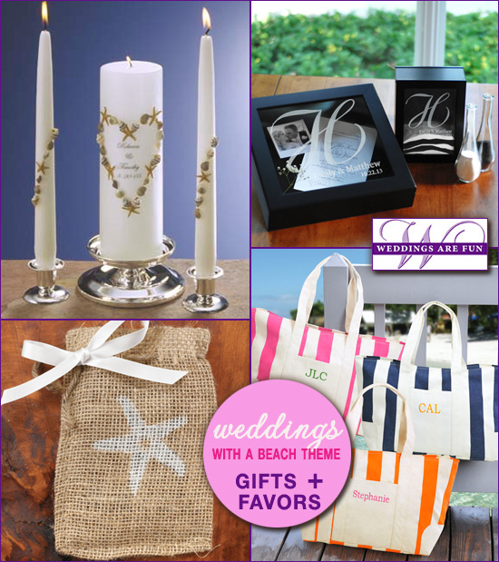beach wedding gifts and favors