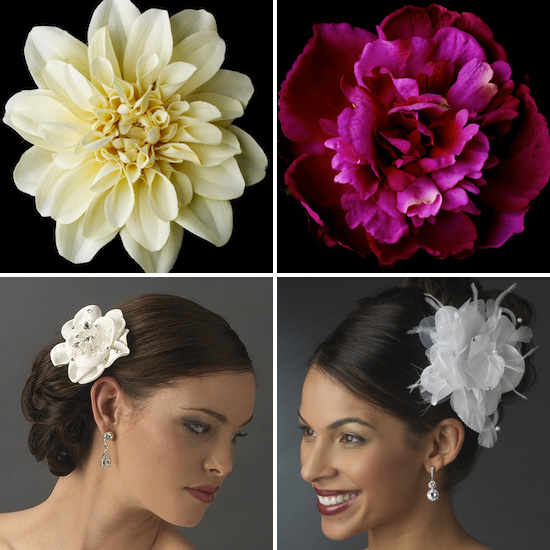 Hot Wedding Accessory Bridal Flower Hair Clips And Pins With Bling