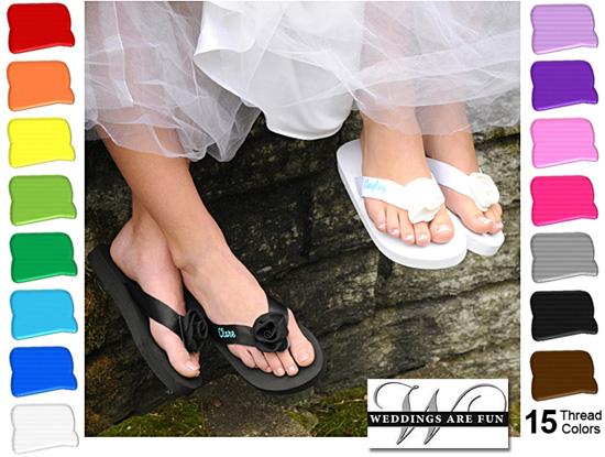 4357561f0df Personalized Wedding Flip Flops