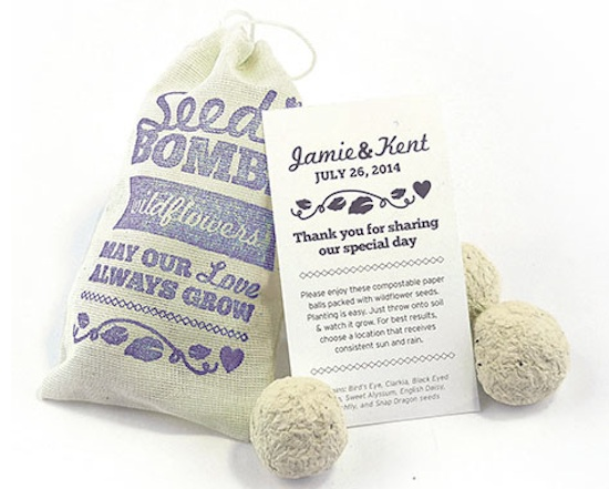 wildflower seed bomb favors from www.daisy-days.com