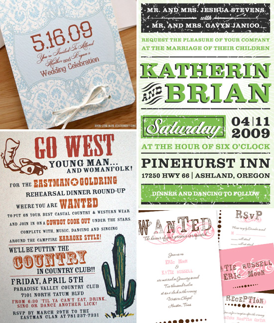 Western Themed Wedding Invitations