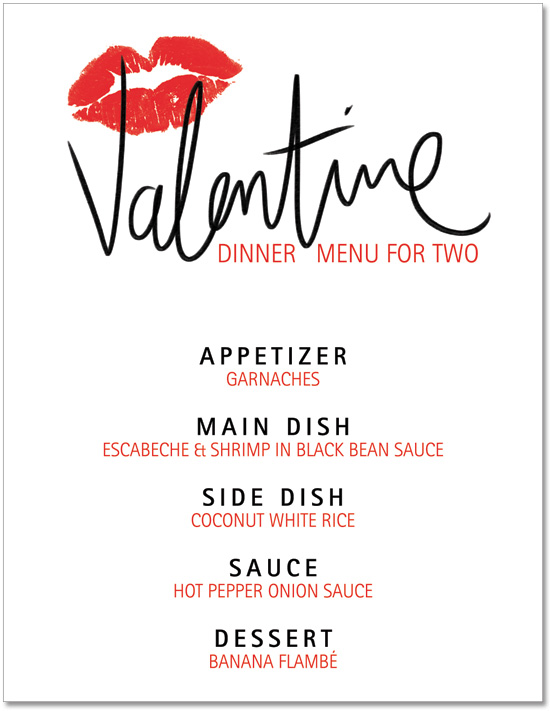 Search results for valentines day dinner menu template for Valentines dinner party menu