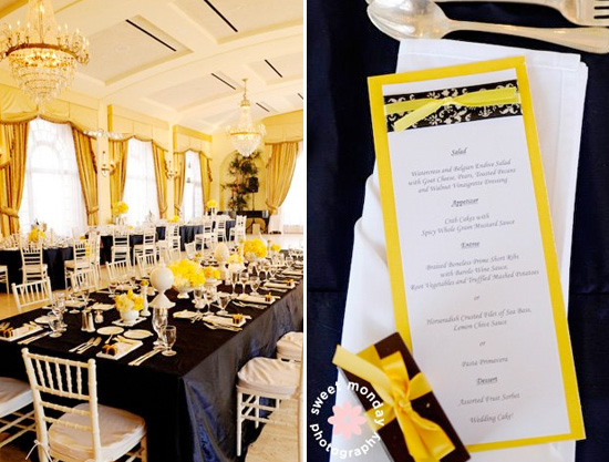 navy blue and yellow wedding with calla lilies con 39 t