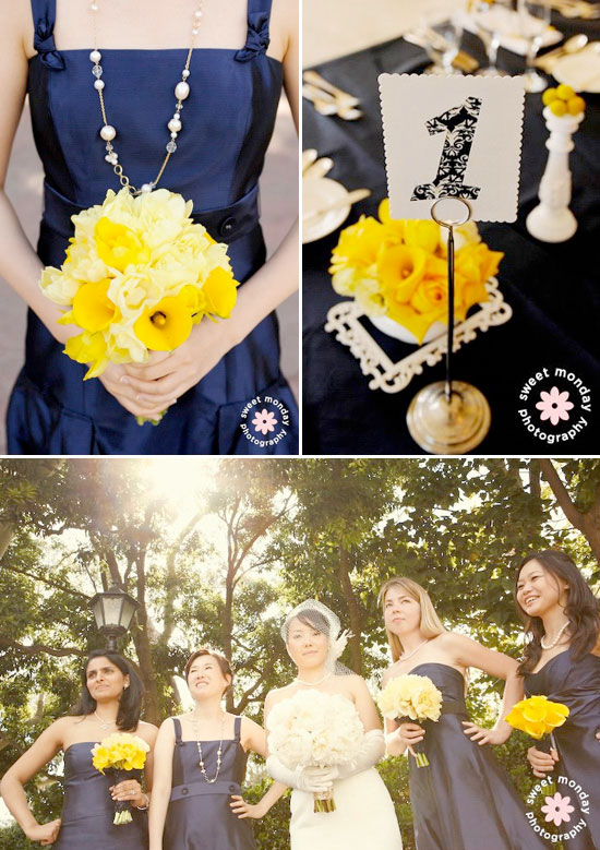 Navy Blue And Yellow Wedding Cont