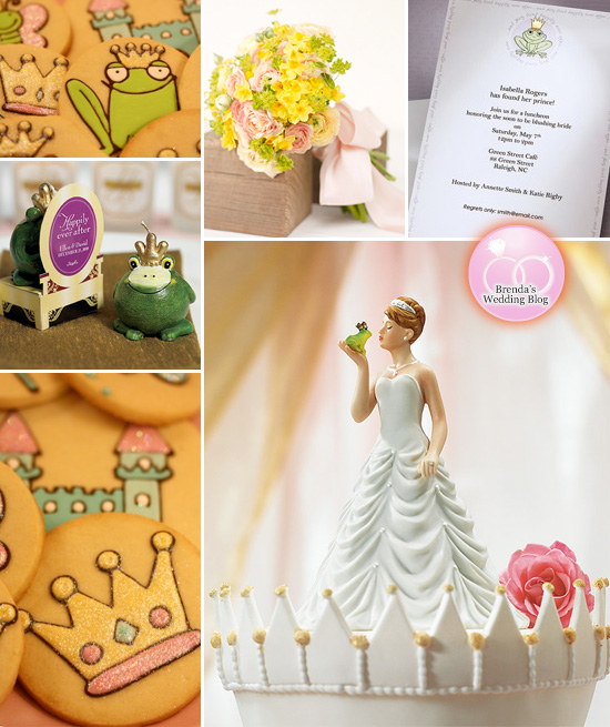 princess frog bridal shower