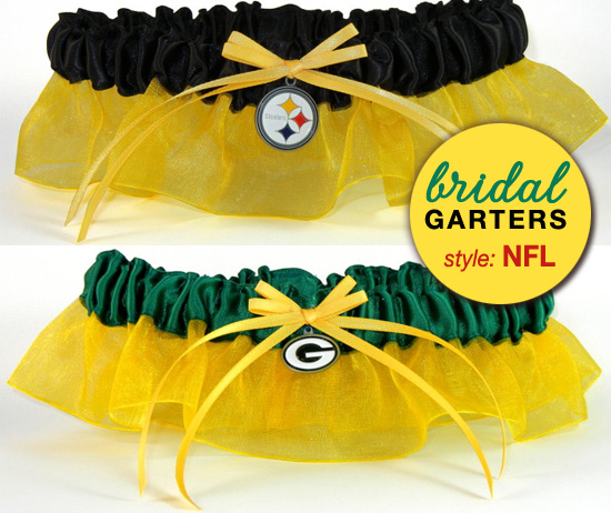 nfl bridal garters from www.daisy-days.com