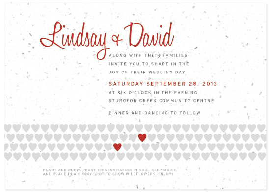 two hearts plantable wedding collection when your guests plant the seeded paper from this collection your love will visibly grow into beautiful wild - Plantable Wedding Invitations