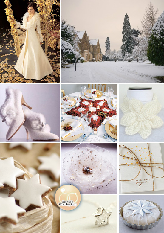 Winter Wonderland Wedding Inspiration Board with Stars — Brenda's