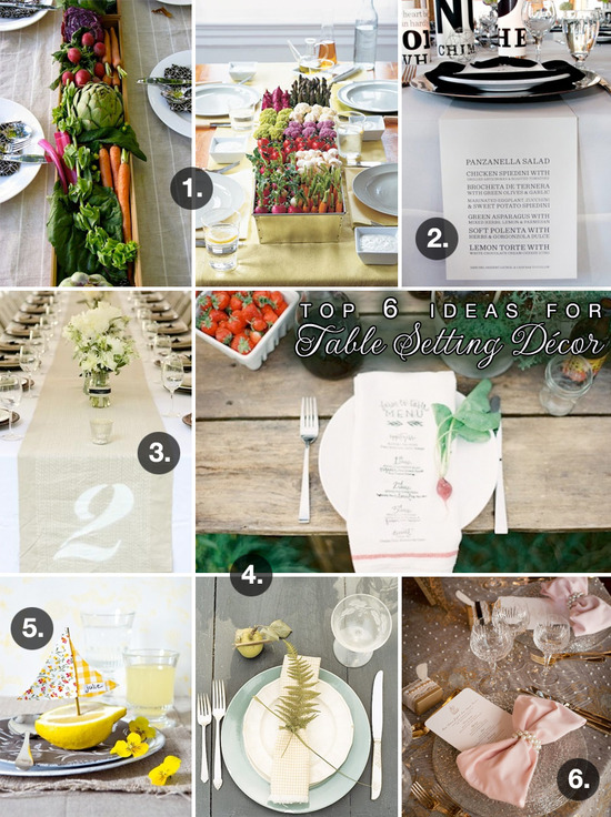 & Top 6 Unique Ideas for Wedding Table Setting Decorations