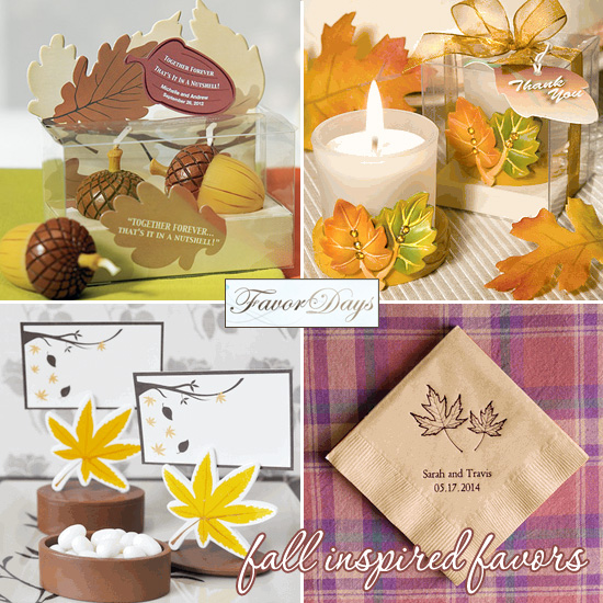 Fall Wedding Gift Card Box : ... Fall Leaf Place Card Favor Boxes with Designer Place Cards , 50