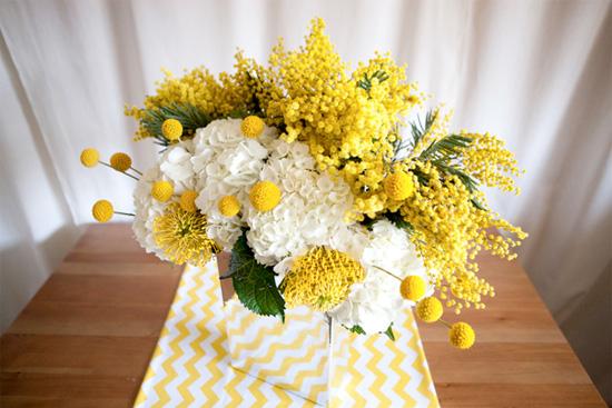 The cutest yellow flower billy buttons or billy balls for weddings via w wedding flowers mightylinksfo