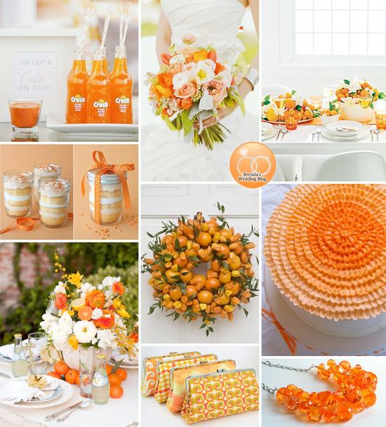 Orange Wedding Inspiration With A Free Printable Diy Menu
