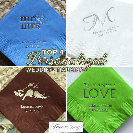 Top 4 Personalized Wedding Napkins