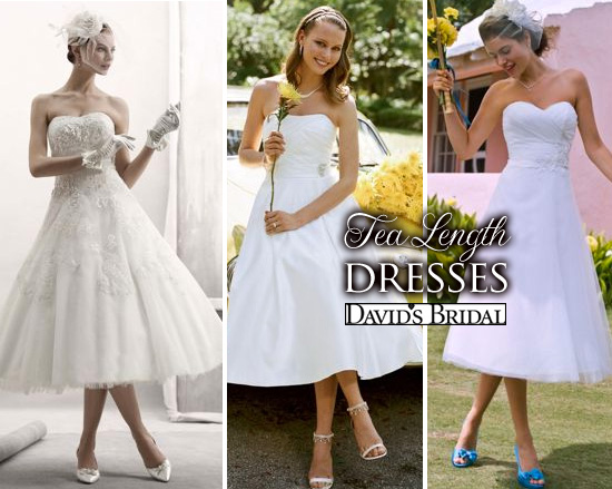 Short And Chic Summer Wedding Dresses From David's Bridal