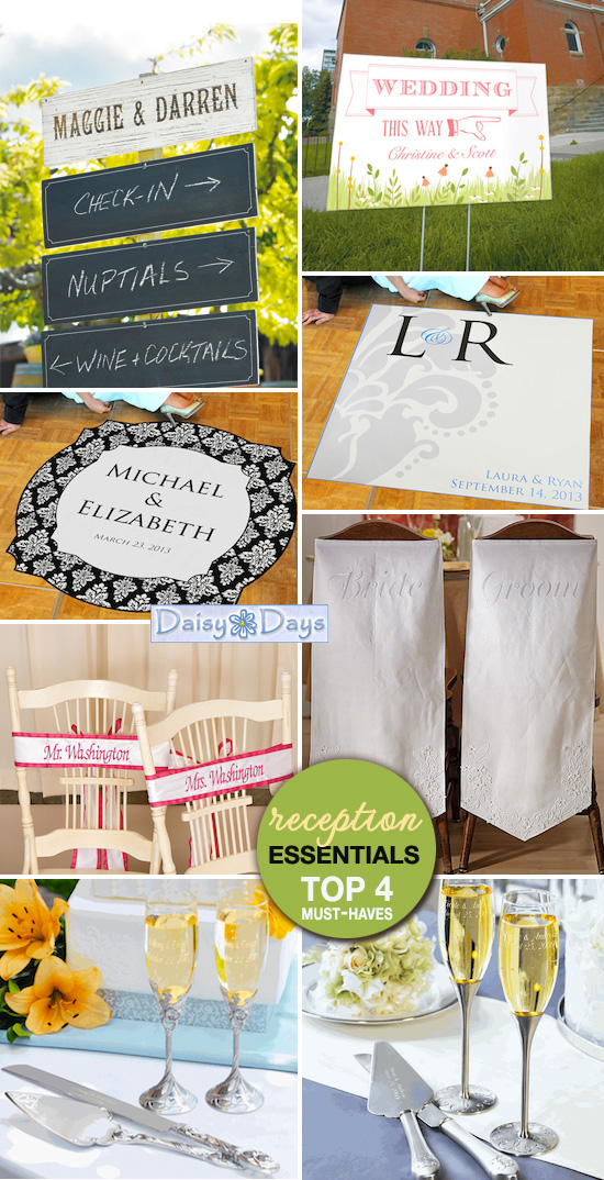 wedding reception must-haves
