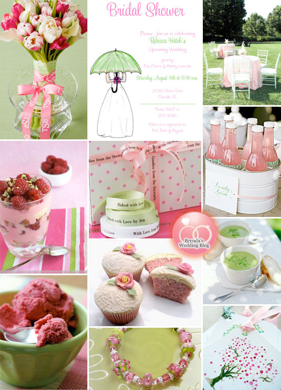 lime green and pink weddings