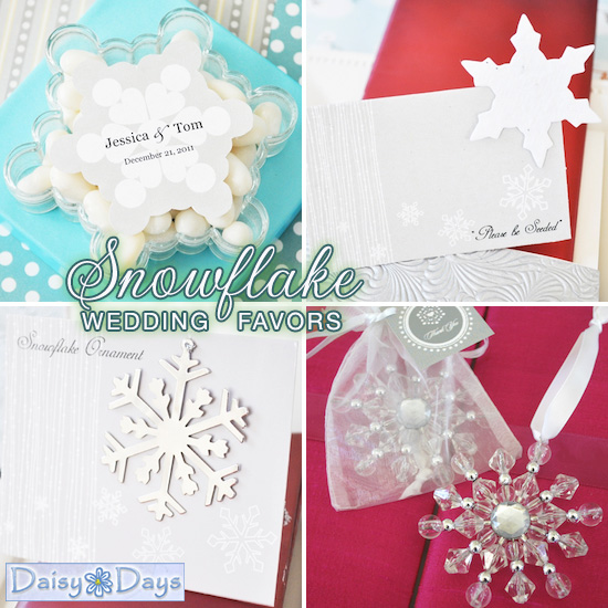 snowflake wedding favors