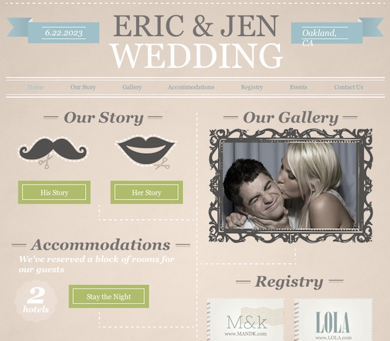 wedding web site template