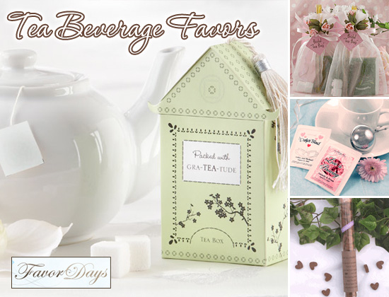tea party themed bridal shower favors