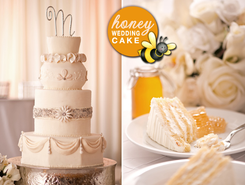 Signature House Honey Wedding Cake from Chicago Marriott Naperville
