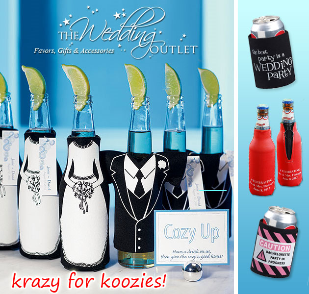 wedding koozies favors