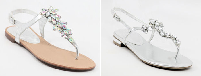 Strappy Wedding Sandals With Bling From Shop Zoey