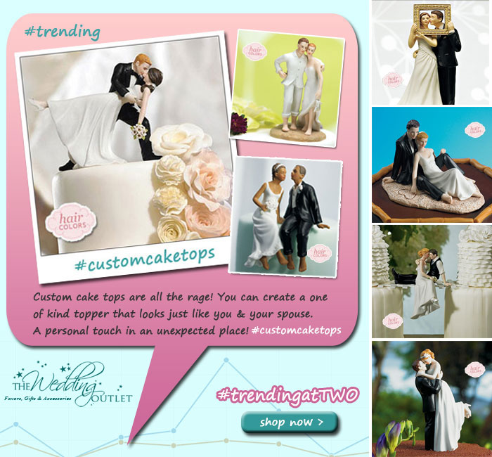 trending custom cake toppers from The Wedding Outlet