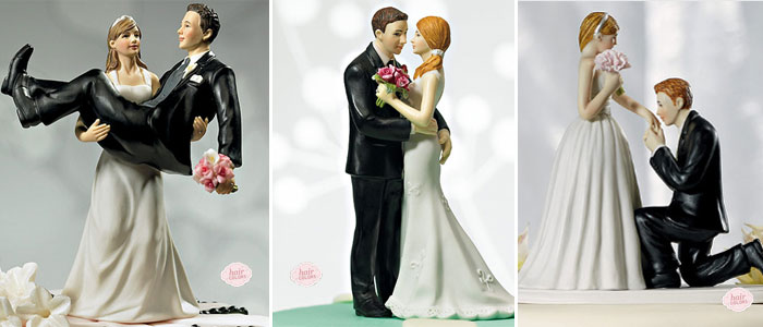 custom wedding cake toppers that resemble the couple | from The Wedding Outlet