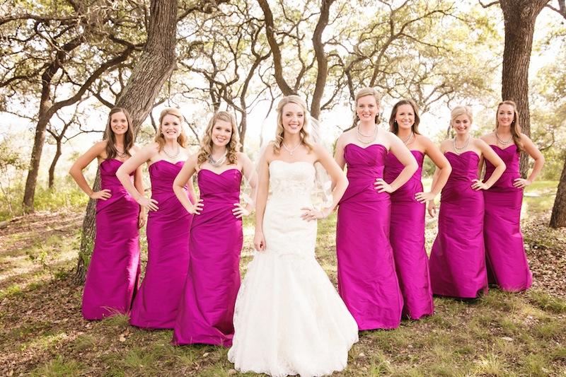 Pink fall wedding