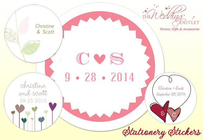 wedding stationery stickers