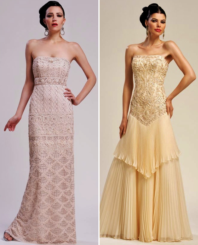 Sue wong bridal collection great gatsby style wedding gowns for The great gatsby wedding dresses