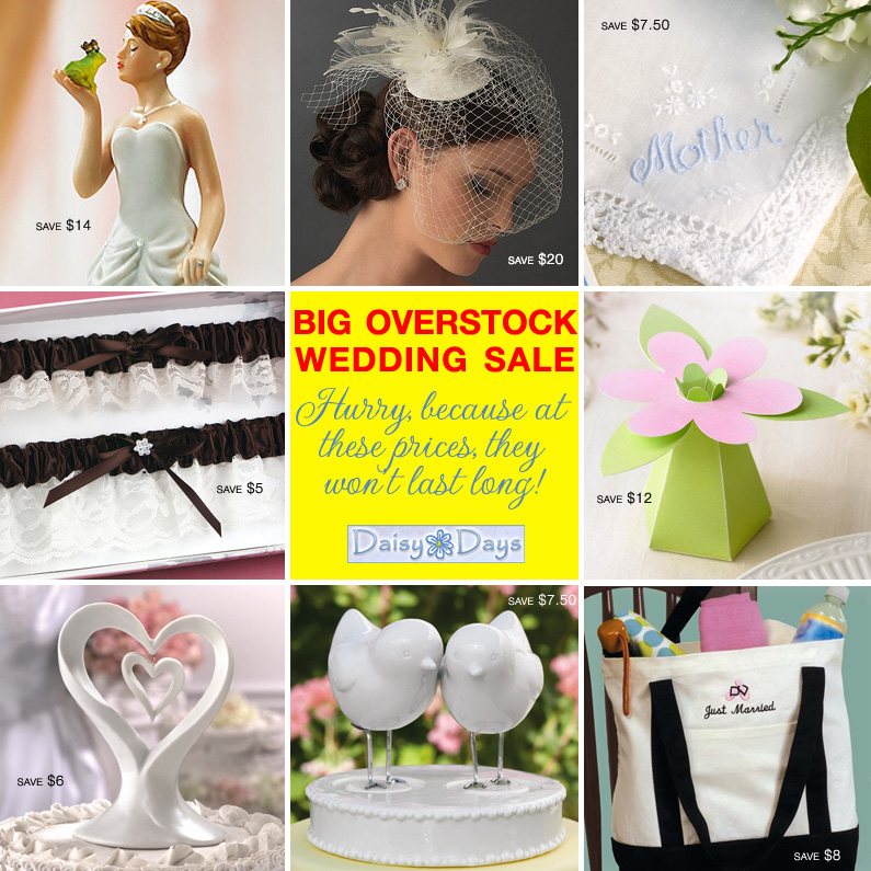 overstock wedding sale