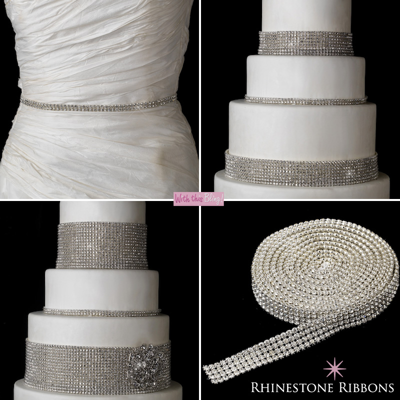 rhinestone ribbons for decorating cakes and wedding dresses