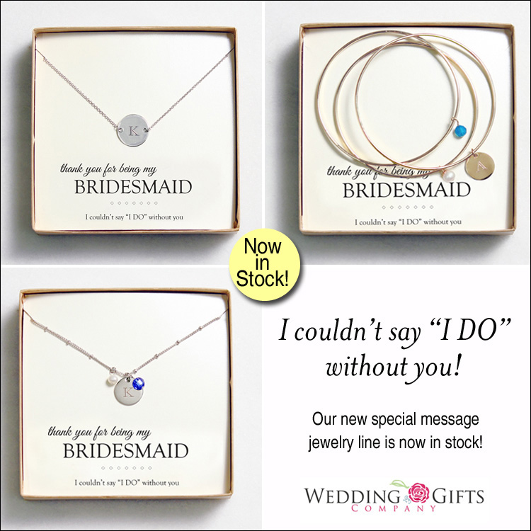 thank you for being my bridesmaid jewelry gifts