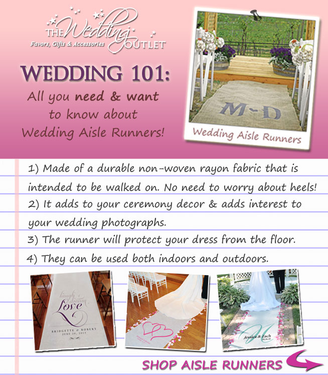 wedding 101 on aisle runners