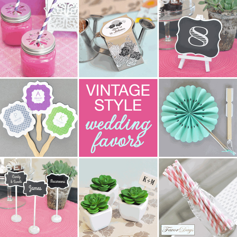Vintage Style Wedding Favors