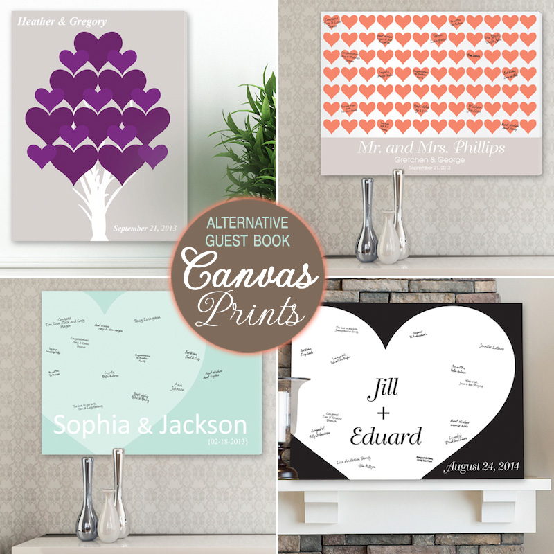 Wedding Guest Book Alternatives From Canvas Prints To Heart Wishes