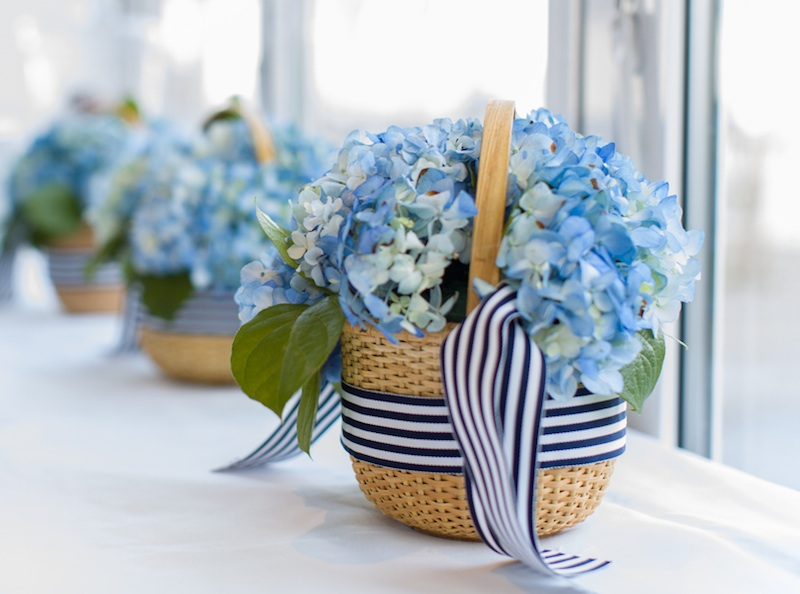cape cod wedding - flower girl baskets