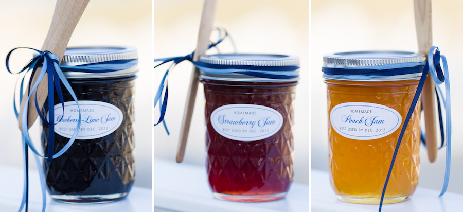 cape cod wedding homemade jelly favors
