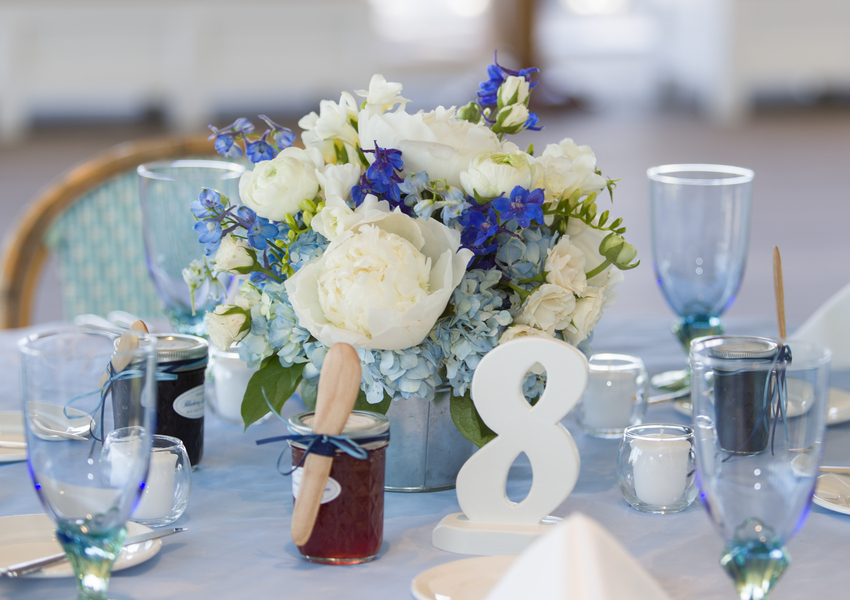 cape cod wedding table setting