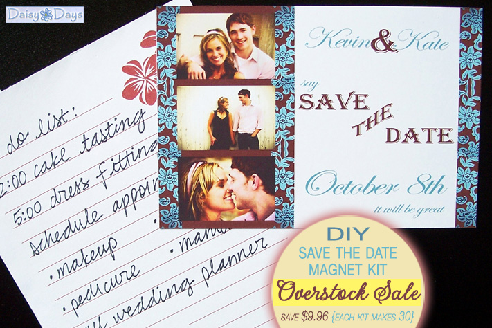 DIY Save the Date Magnet Kit - overstock sale at Daisy Days - just $14.99 creates 30 save the dates