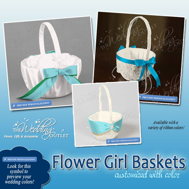 Custom Flower Girl Baskets