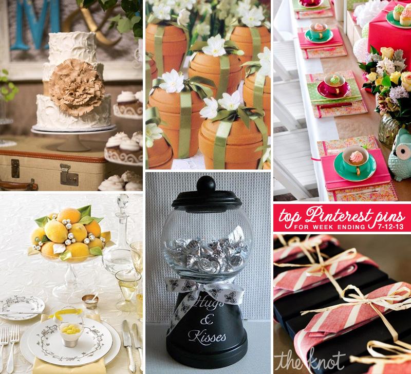 Top pins from @weddingsites for week ending 7-12-13