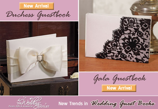 Wedding Guestbooks from www.theweddingoutlet.com | Beverly Clark Duchess Collection Guest Book and Beverly Clark Duchess Collection Guest Book