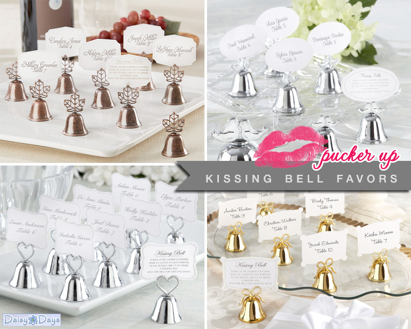 kissing bell favors from www.daisy-days.com